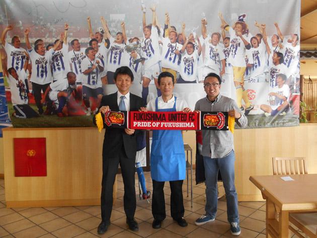 (左)福島ユナイテッドFCの井上さん (右)ふくしまFMの藤原さん